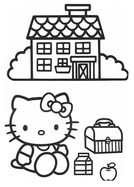ausmalbilder zum drucken malvorlage hello kitty kostenlos 3