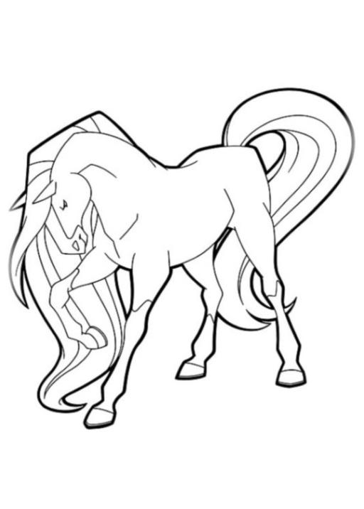 Ausmalbilder zum Drucken Malvorlage Horseland kostenlos 3