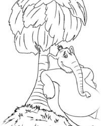 Malvorlage Horton hört ein hu kostenlos 1