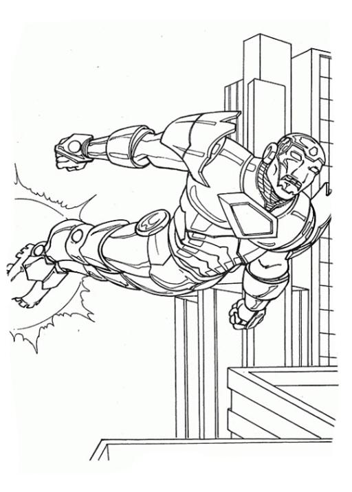 Ausmalbilder Zum Drucken Malvorlage Iron Man Kostenlos 1