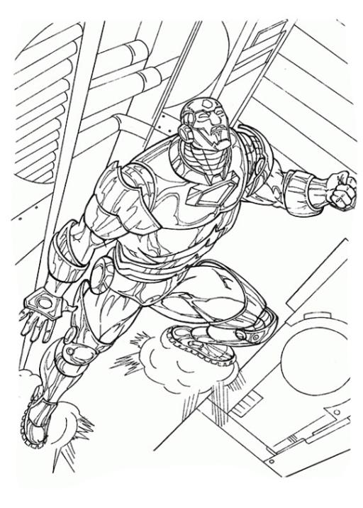 Ausmalbilder Zum Drucken Malvorlage Iron Man Kostenlos 4