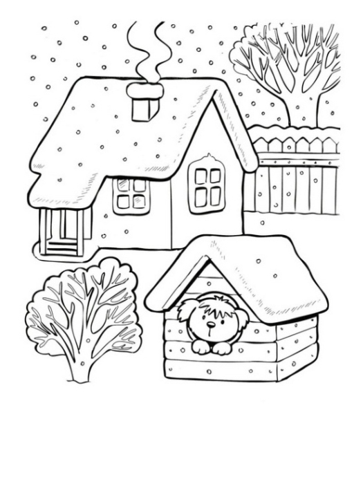 Ausmalbilder zum Drucken Malvorlage Jahreszeiten kostenlos 1