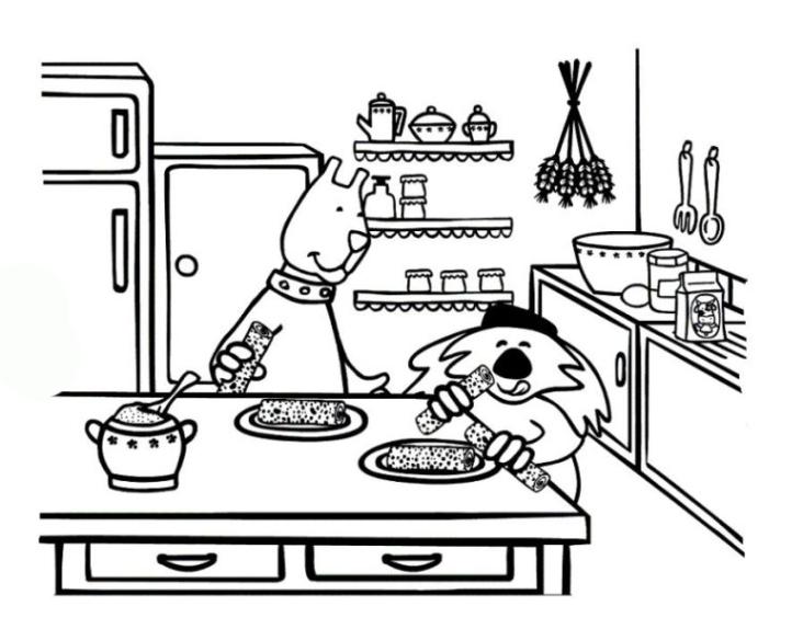 Ausmalbilder Küche Zum Ausdrucken: Ausmalbilder Zum Drucken Malvorlage Küche Kostenlos 2