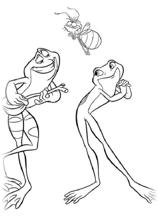 ausmalbilder zum drucken malvorlage küss den frosch