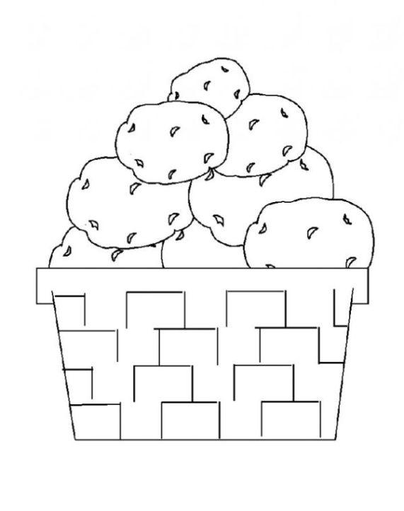 Ausmalbilder zum Drucken Malvorlage Kartoffel kostenlos 1