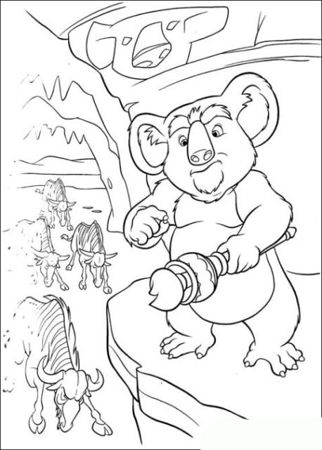 ausmalbilder zum drucken malvorlage koala kostenlos 1
