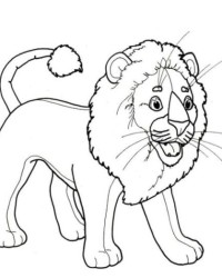 Malvorlage Löwe kostenlos 3
