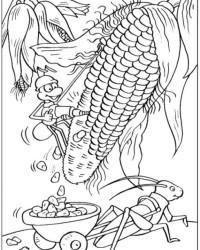 Malvorlage Mais kostenlos 1