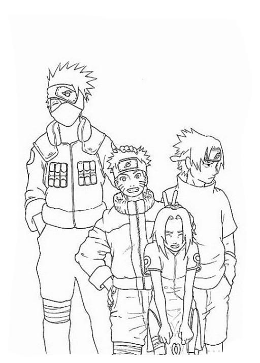 Ausmalbilder Zum Drucken Malvorlage Naruto Kostenlos 1