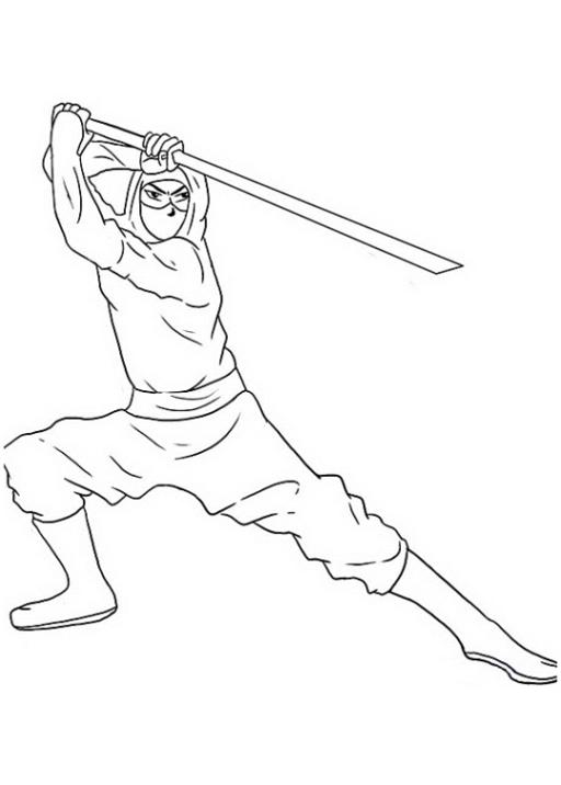 Ausmalbilder Zum Drucken Malvorlage Ninja Kostenlos 3