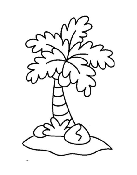 Malvorlagen von Palmen kostenlos zum Ausdrucken