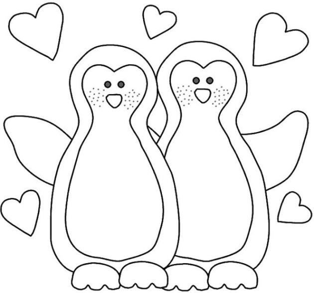Ausmalbilder zum Drucken Malvorlage Pinguin kostenlos 2