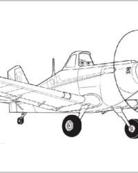 Malvorlage Planes Disney Flugzeuge kostenlos 1