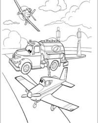 Malvorlage Planes Disney Flugzeuge kostenlos 2