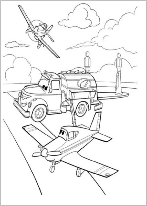 Ausmalbilder Zum Drucken Malvorlage Planes Disney Flugzeuge Kostenlos 2