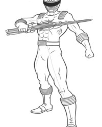 Malvorlage Power Rangers kostenlos 3