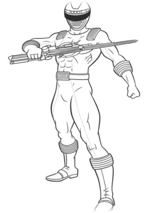Ausmalbilder Zum Drucken Malvorlage Power Rangers Kostenlos 3