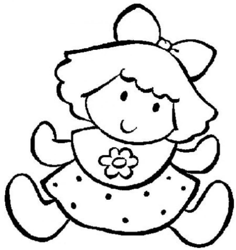 Ausmalbilder zum Drucken Malvorlage Puppe kostenlos 2