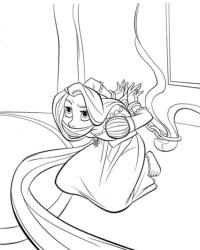 Malvorlage Rapunzel kostenlos 1