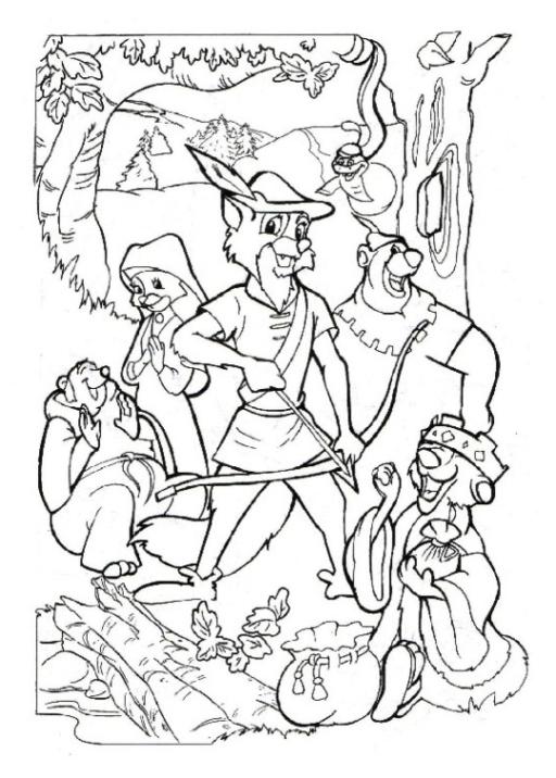 Ausmalbilder Zum Drucken Malvorlage Robin Hood Kostenlos 1