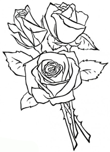 Flowers And Roses Coloring Pages