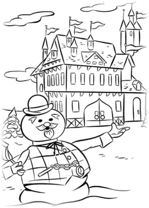 Ausmalbilder zum Drucken Malvorlage Rudolph mit der roten ...