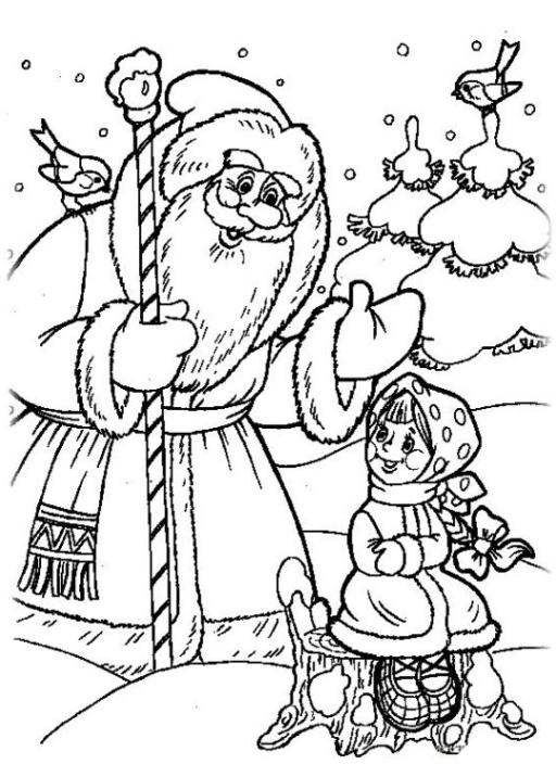 Ausmalbilder zum Drucken Malvorlage Russische Märchen kostenlos 2