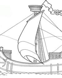 Malvorlage Schiff kostenlos 3