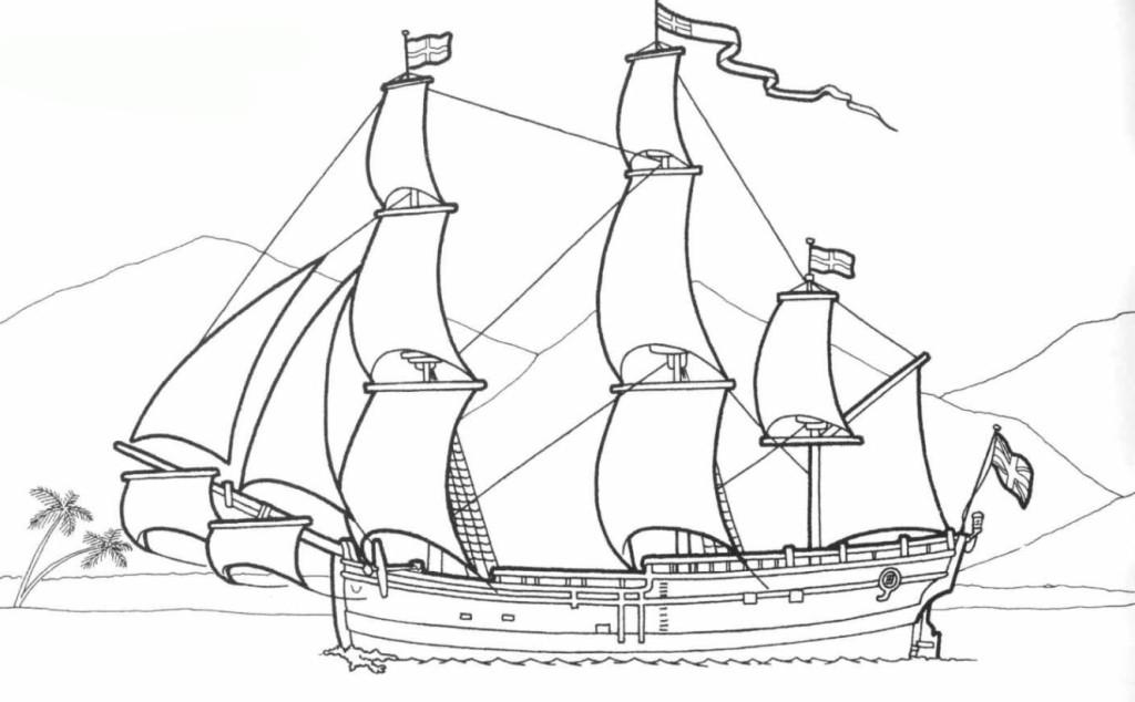Malvorlage Schiff kostenlos 4