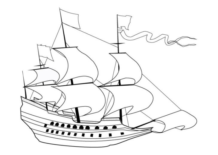 Malvorlage Schiff kostenlos 6