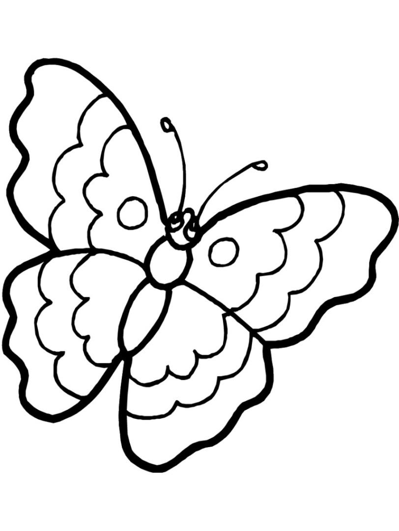 Ausmalbilder Schmetterling : Ausmalbilder Zum Drucken Malvorlage Schmetterling Kostenlos 4