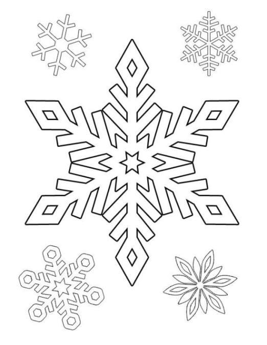 Gratis Malvorlagen Schneeflocken | My blog