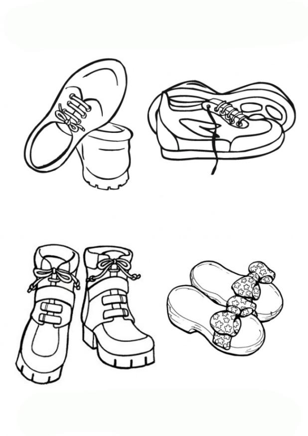 Malvorlagen Von Schuhe Kostenlos Zum Ausdrucken