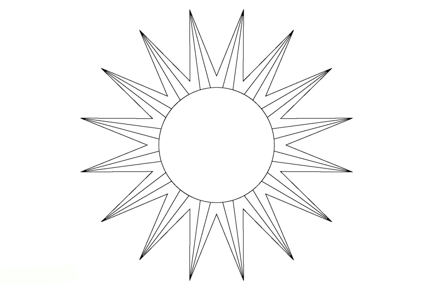 Ausmalbilder zum Drucken Malvorlage Sonne kostenlos 2