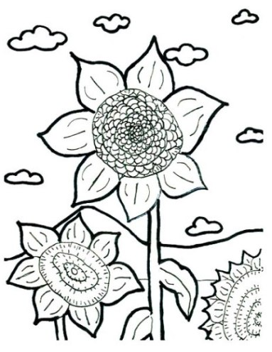 Ausmalbilder Zum Drucken Malvorlage Sonnenblume Kostenlos 2