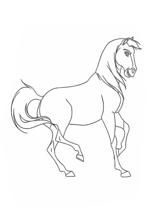 Ausmalbilder Zum Drucken Malvorlage Spirit Der Wilde Mustang
