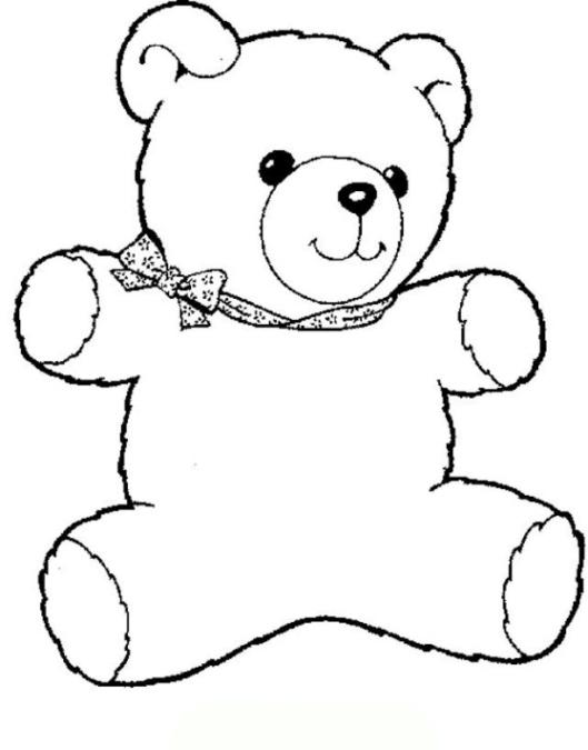 ausmalbilder zum drucken malvorlage teddybär kostenlos 2