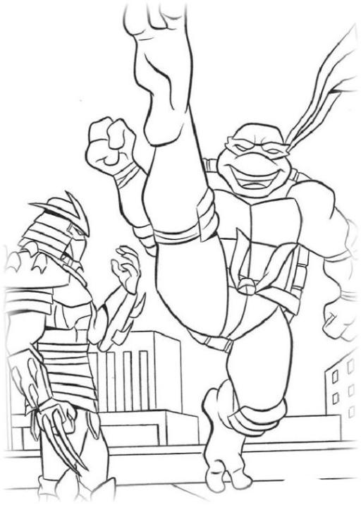 Ausmalbilder Zum Drucken Malvorlage Teenage Mutant Ninja Turtles