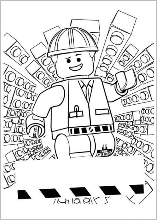 Ausmalbilder Zum Drucken Malvorlage The Lego Movie Kostenlos 1