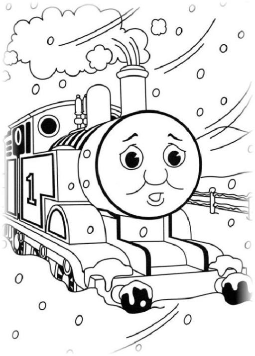 Ausmalbilder Zum Drucken Malvorlage Thomas Die Kleine Lokomotive