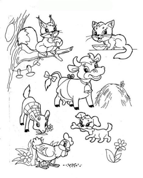 ausmalbilder zum drucken malvorlage tiere kostenlos 3