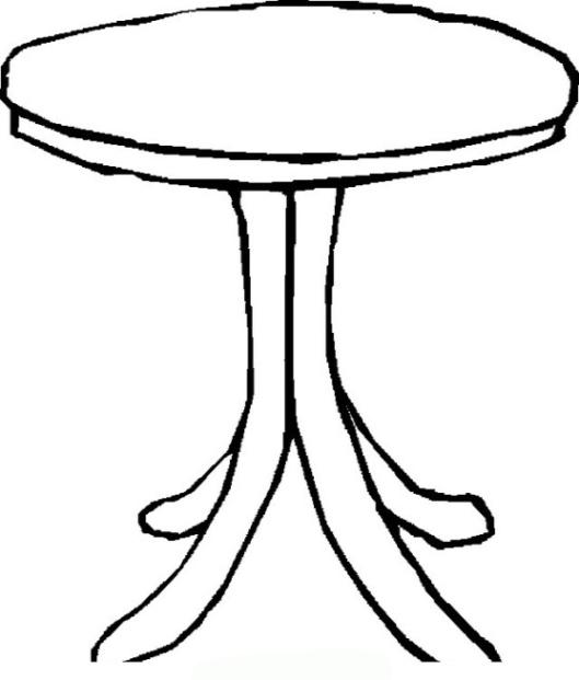 Tisch ausmalbild  Ausmalbilder zum Drucken Malvorlage Tisch kostenlos 2