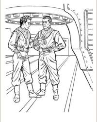 Malvorlage Tom Corbett, Space Cadet kostenlos 1