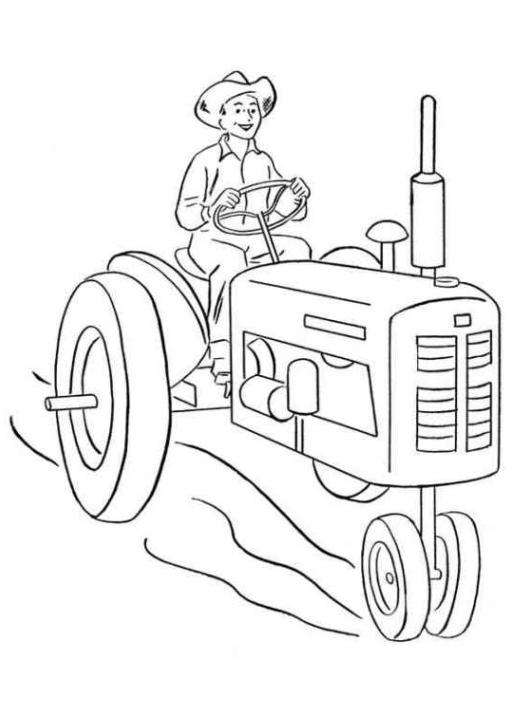 ausmalbilder zum drucken malvorlage traktor kostenlos 1