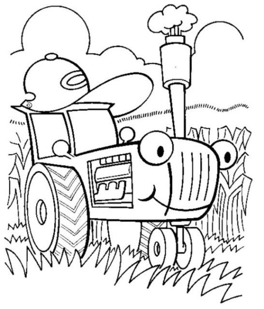 ausmalbilder zum drucken malvorlage traktor kostenlos 2