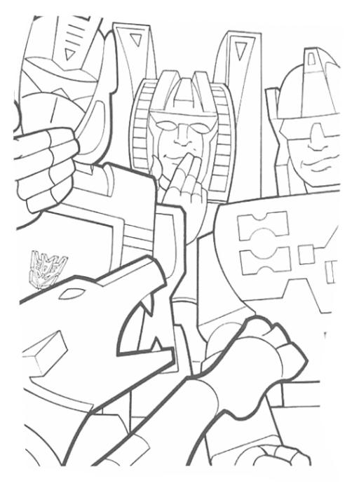 Ausmalbilder Zum Drucken Malvorlage Transformers Kostenlos 1
