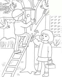Malvorlage Treppe Leiter kostenlos 1