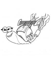 Malvorlage Turbo – Kleine Schnecke, grosser Traum kostenlos 2