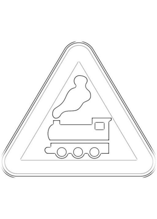 Ausmalbilder Zum Drucken Malvorlage Verkehrszeichen Kostenlos 1