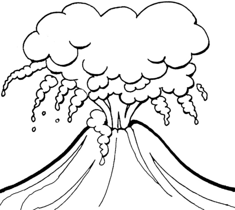 volcano coloring pages getcoloringpagescom sketch coloring